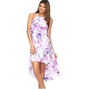 Jennifer Lopez Hi-low floral summer dress M petite